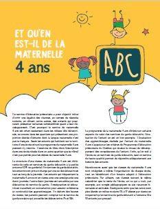 Maternelle 4 ans - guide pour les parents
